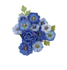 Prima Marketing Prima Flowers® Nature Lover Collection - Blue River -  14 pcs / 1-2.5 in / mulberry paper