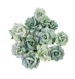 Prima Marketing Prima Flowers® My Sweet Collection - Emerald Beauty -  12 pcs / 1.5-2 in / mulberry paper