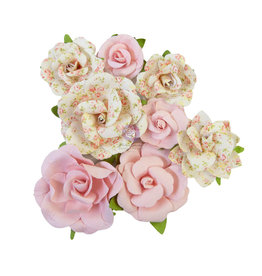 Prima Marketing Prima Flowers® My Sweet Collection - Friends Always -  8 pcs / 1.5-2.5 in /mulberry paper