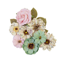 Prima Marketing Prima Flowers® My Sweet Collection - Sewn Together -  12 pcs / 1.5-2.5 in / mulberry paper