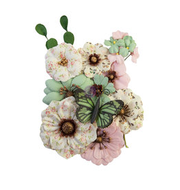 Prima Marketing Prima Flowers® My Sweet Collection - Sewn With Love -  12 pcs / 0.5- 2 in / mulberry paper