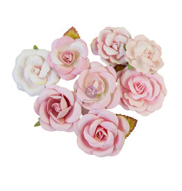 Prima Marketing Prima Flowers® Magic Love Collection - Pink Dreams -  8 pcs / 1.5-2 in / mulberry paper