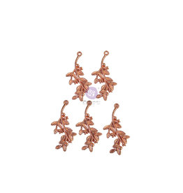Prima Marketing Watercolor Floral Collection Metal Charms - 5 pcs / metal