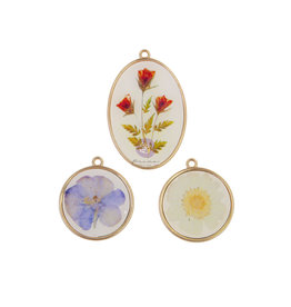 Prima Marketing Nature Lover Collection Epoxy Charms - 3 pcs / metal