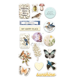 Prima Marketing Nature Lover Collection Puffy Stickers - 19 pcs / stickers