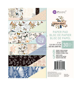Prima Marketing Nature Lover Collection 6x6 Paper Pad - 30 sheets / paper pad