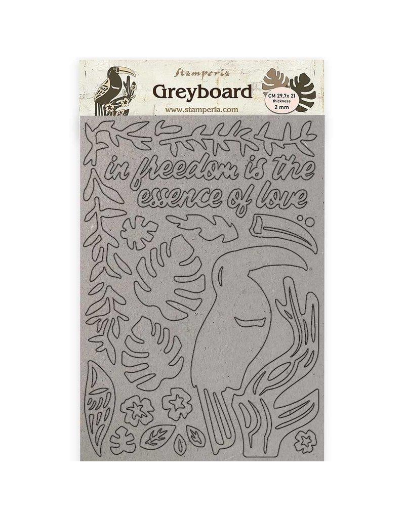 A4 Greyboard /2 mm - Amazonia toucan
