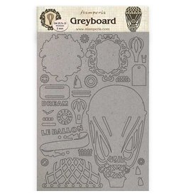 Stamperia A4 Greyboard /2 mm - Air baloon