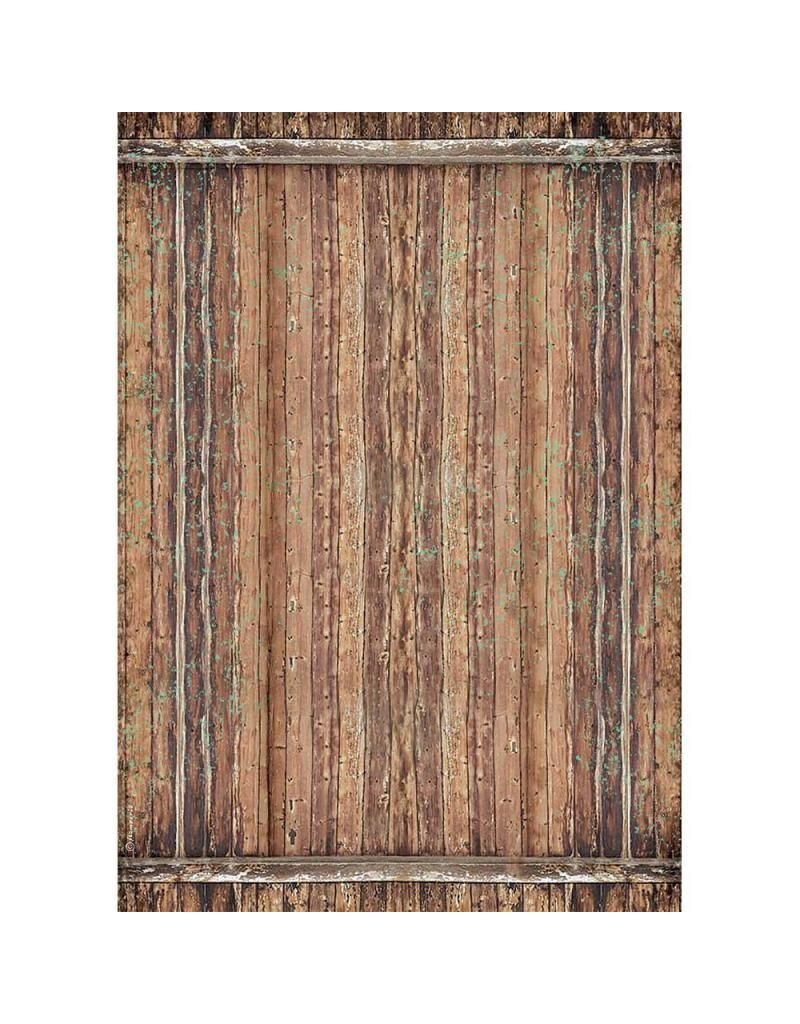 Stamperia A3 Rice paper packed - Amazonia wood