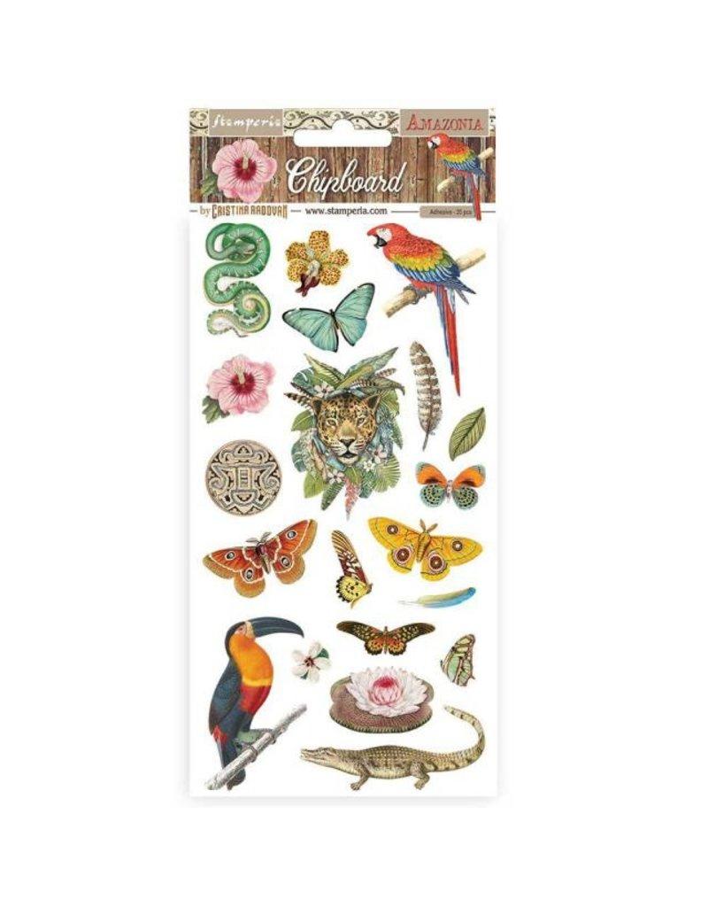 Stamperia Chipboard cm 15x30 - Amazonia