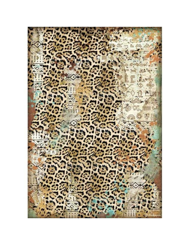 Stamperia A4 Rice paper packed - Amazonia texture