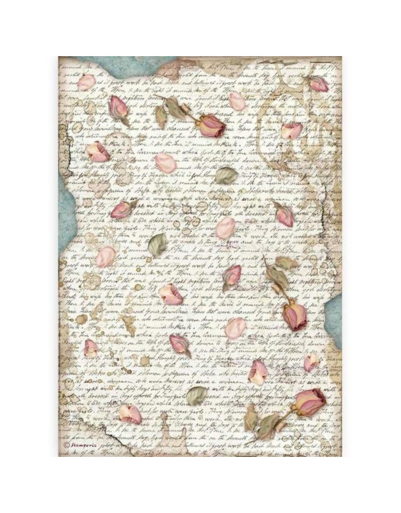 Stamperia A4 Rice paper packed - Passion petals