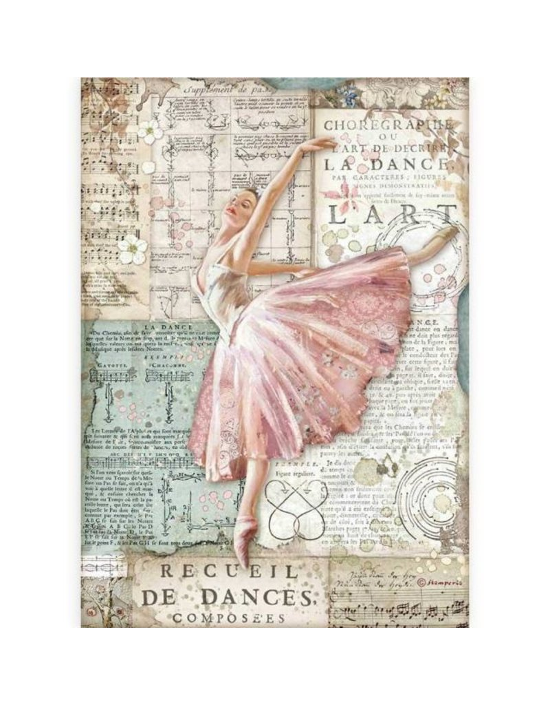 Stamperia A4 Rice paper packed - Passion dancer