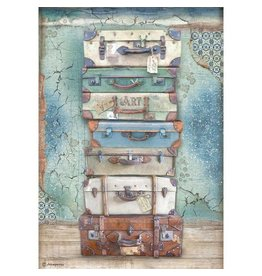 Stamperia A4 Rice paper packed - Atelier Luggage