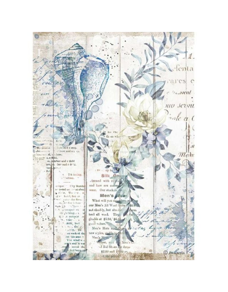 Stamperia A4 Rice paper packed - Romantic Sea Dream shells