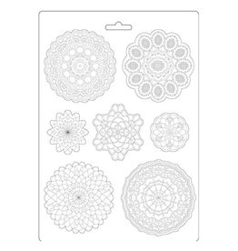 Stamperia Soft Mould A4 - Passion round lace
