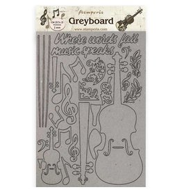 Stamperia A4 Greyboard /2 mm - Passion violin