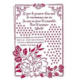 Stamperia Stencil G 21x29,7 cm - Romantic Journal flower with frame
