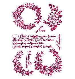 Stamperia Stencil G 21x29,7 cm - Romantic Journal garlands love