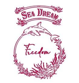 Stamperia Stencil G 21x29,7 cm - Romantic Sea Dream freedom