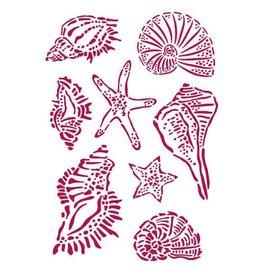Stamperia Stencil G 21x29,7 cm - Romantic Sea Dream shells