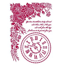 Stamperia Stencil G 21x29,7 cm - Romantic Journal clock