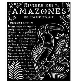 Stamperia Thick Stencil 20x25 cm - Amazonia toucan