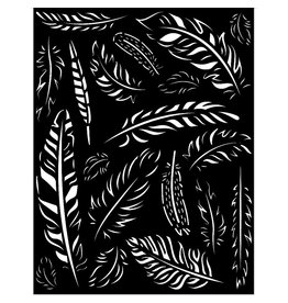 Stamperia Thick Stencil 20x25 cm - Amazonia feathers