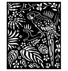 Stamperia Thick Stencil 20x25 cm - Amazonia parrot