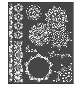 Stamperia Thick Stencil 20x25 cm - Passion laces