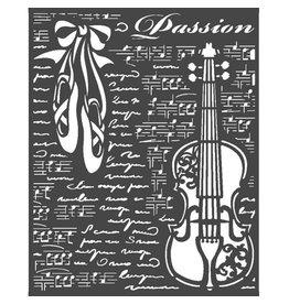 Stamperia Thick Stencil 20x25 cm - Passion violin