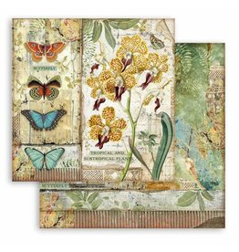 Stamperia Scrapbooking paper double face - Amazonia orchid and butterfly