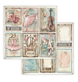 Stamperia Scrapbooking paper double face - Passion cards