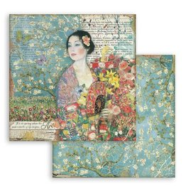 Stamperia Scrapbooking paper double face - Dame with fan