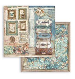 Stamperia Scrapbooking paper double face - Luggage