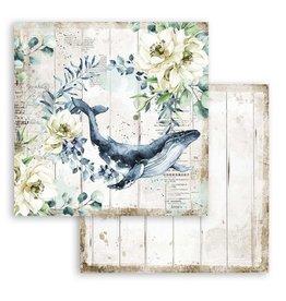 Stamperia Scrapbooking paper double face - Romantic Sea Dream whale