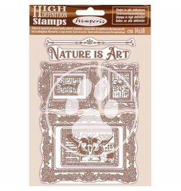 Stamperia HD Natural Rubber Stamp 14x18 cm - Nature is Art frames