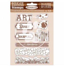 Stamperia HD Natural Rubber Stamp 14x18 cm - Art