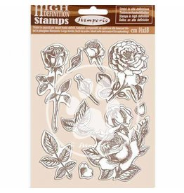 Stamperia HD Natural Rubber Stamp 14x18 cm - Passion rose