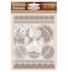 Stamperia HD Natural Rubber Stamp 14x18 cm - Passion lace