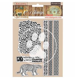 Stamperia HD Natural Rubber Stamp 14x18 cm - Amazonia tribals