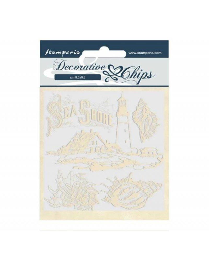 Stamperia Decorative chips 14x14 cm - Sea Shore