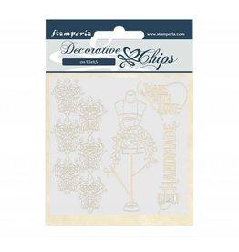 Stamperia Decorative chips 14x14 cm - Threads