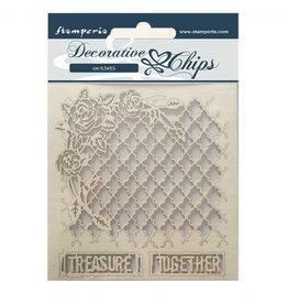 Stamperia Decorative chips 14x14 cm - Treasure together