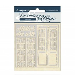 Stamperia Decorative chips 14x14 cm - Atelier des Arts door