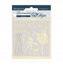 Stamperia Decorative chips 14x14 cm Passion dancer