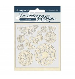Stamperia Decorative chips 14x14 cm Amazon butterfly tribal