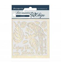 Stamperia Decorative chips 14x14 cm Amazon parrot