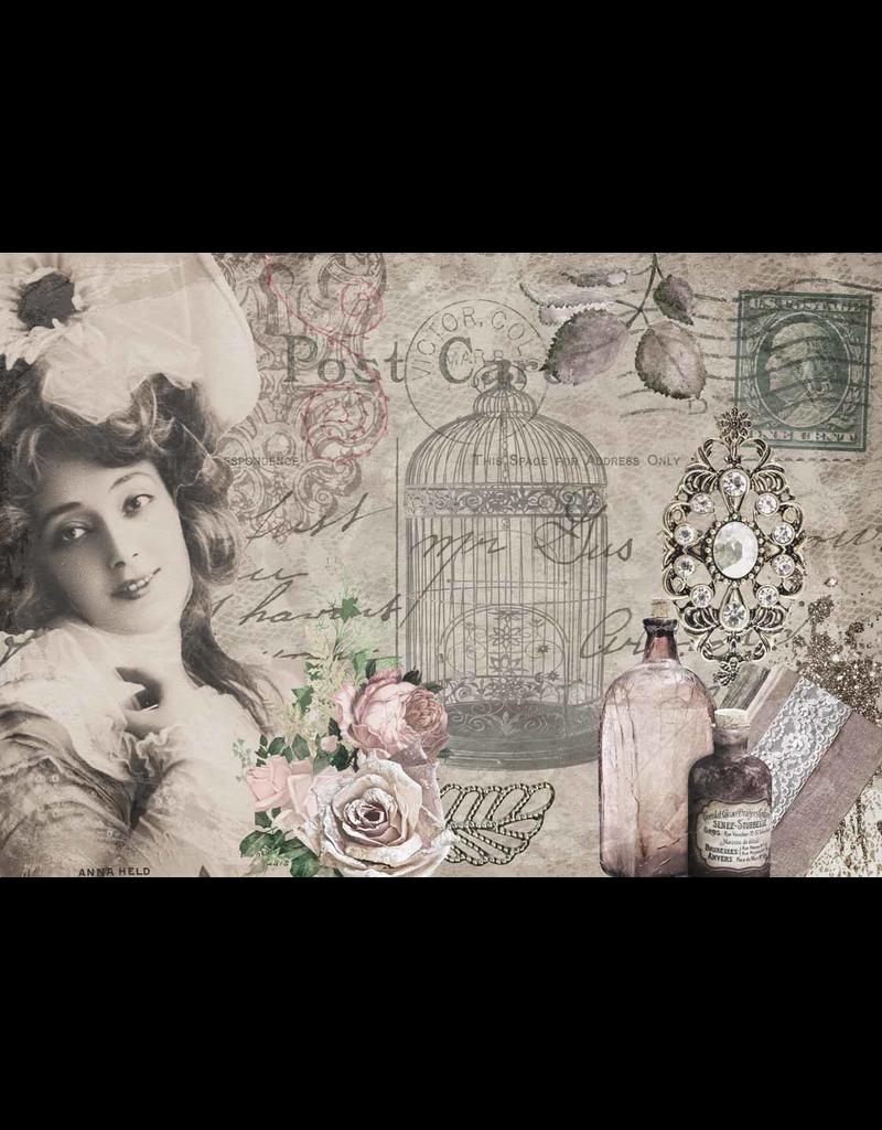 Decoupage Queen Anna's Postcard