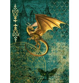 Decoupage Queen Golden Dragon